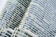 La Defense Paris and business area and architecture Stock Image