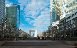 La Defense in Paris Royalty Free Stock Photos