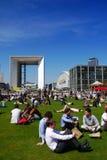 Lunch break, La Defense, Paris, France Stock Photo
