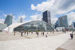 La Defense in Paris, France Stock Image