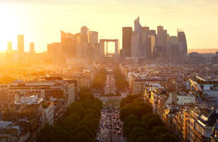 La Defense in Paris. View on the modern district la Defense in Paris Royalty Free Stock Images