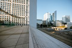La Defense region of Paris royalty free stock image