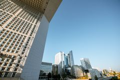 La Defense region of Paris stock photos