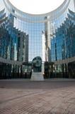 La défense - Tindaro statue by Igor Mitoraj with Buildings Royalty Free Stock Images