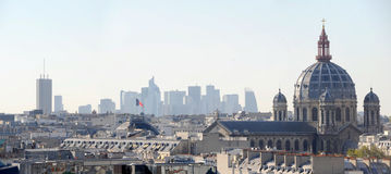 La defense view from Paris'roof - France Stock Photos