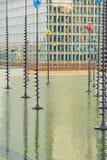 La-Defensie Parijs en economische sector en architectuur Stock Fotografie