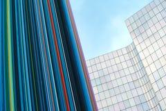 La-Defensie Parijs en economische sector en architectuur Stock Afbeeldingen