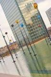 La-Defensie Parijs en economische sector en architectuur Royalty-vrije Stock Afbeeldingen