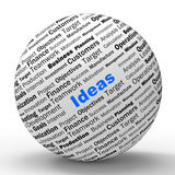 La definición de la esfera de las ideas muestra creatividad y Imágenes de archivo libres de regalías