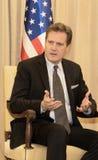 La delegazione congressuale degli Stati Uniti incontra Israel President Fotografie Stock