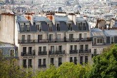 La della galleria del binoculars coin de fayette Francia l'alta ha funzionato sopra Parigi sulla vista Fotografia Stock