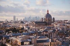 La della galleria del binoculars coin de fayette Francia l'alta ha funzionato sopra Parigi sulla vista Fotografie Stock