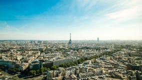 La della galleria del binoculars coin de fayette Francia l'alta ha funzionato sopra Parigi sulla vista Immagine Stock