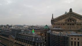 La della galleria del binoculars coin de fayette Francia l'alta ha funzionato sopra Parigi sulla vista Immagini Stock Libere da Diritti