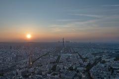 La della galleria del binoculars coin de fayette Francia l'alta ha funzionato sopra Parigi sulla vista Fotografia Stock Libera da Diritti