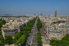 La della galleria del binoculars coin de fayette Francia l'alta ha funzionato sopra Parigi sulla vista Immagini Stock