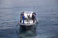La demolición de pescados piratea a VIKING Ship en Indonesia Imágenes de archivo libres de regalías