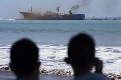 La demolición de pescados piratea a VIKING Ship en Indonesia Imagen de archivo libre de regalías