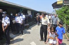 La demolizione delle case su terra ha posseduto la pinta KAI a Samarang Fotografia Stock Libera da Diritti