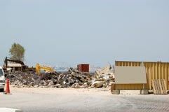 La demolizione di 10 anni dell'hotel Immagine Stock