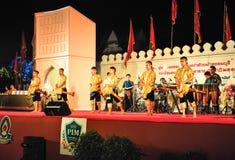 La demostración cultural de la danza del tambor Fotos de archivo libres de regalías