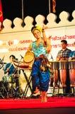La demostración cultural de la danza del tambor Fotografía de archivo
