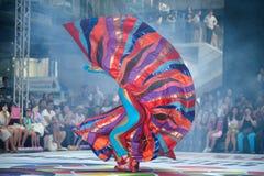 La demostración de la calle de los colores en Bangkok. Fotos de archivo libres de regalías