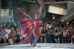 La demostración de la calle de los colores en Bangkok. Fotografía de archivo libre de regalías