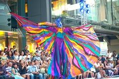 La demostración de la calle de los colores en Bangkok. Imágenes de archivo libres de regalías