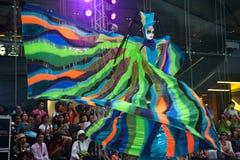 La demostración de la calle de los colores en Bangkok. Fotografía de archivo