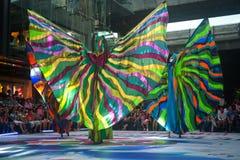 La demostración de la calle de los colores en Bangkok. Fotos de archivo