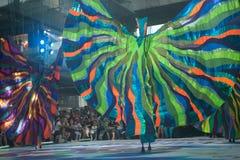 La demostración de la calle de los colores en Bangkok. Imagen de archivo