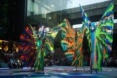 La demostración de la calle de los colores en Bangkok. Foto de archivo