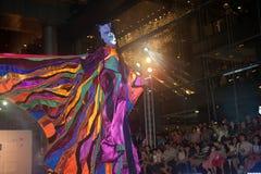 La demostración de la calle de los colores en Bangkok. Imagenes de archivo