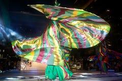 La demostración de la calle de los colores en Bangkok. Imagen de archivo libre de regalías