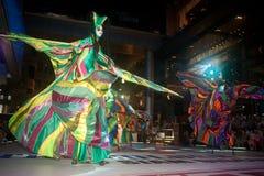 La demostración de la calle de los colores en Bangkok. Foto de archivo libre de regalías