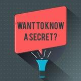 La demostración de la muestra del texto quiere conocer una pregunta secreta Foto conceptual para divulgar una información vital c libre illustration
