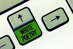 La demostración de la nota de la escritura escribe poesía Ideas melancólicas roanalysistic de exhibición de la literatura de la e imagenes de archivo