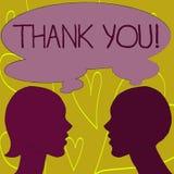 La demostración de la nota de la escritura le agradece Gratitud de exhibición del reconocimiento del saludo del aprecio de la fot libre illustration