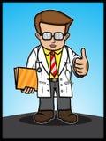La demostración del doctor manosea con los dedos para arriba Fotografía de archivo libre de regalías