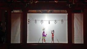 La demostración tradicional china de la funcionamiento-sombra metrajes