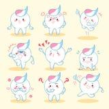 La dent avec la pâte font l'émotion illustration stock