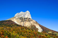 La dent de Crolles. A rocky mountain near Grenoble Stock Photography