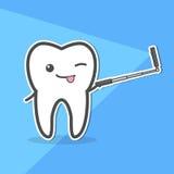 La dent saine fait le selfie Photographie stock libre de droits