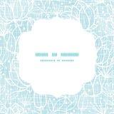 La dentelle bleue fleurit le modèle de place de cadre de textile Photo libre de droits