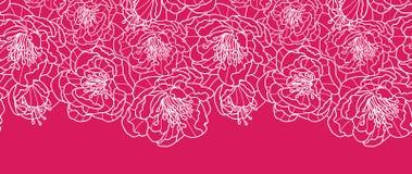 La dentelle rouge vibrante fleurit sans couture horizontal illustration de vecteur