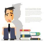 La depressione odia i libri di lettura - Fotografie Stock Libere da Diritti