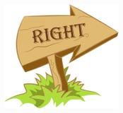 La derecha de madera de la flecha libre illustration