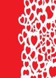 La derecha del fondo del amor stock de ilustración