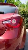 La derecha roja del coche Imagen de archivo libre de regalías